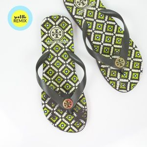 tory burch ∙ art deco flip flops